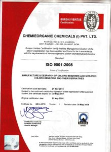 ChemieOrganic Chemicals ISO 9001 Certification